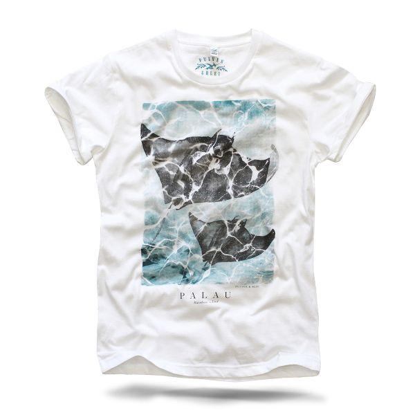 Palau Sommer Shirt Pulver und Blei