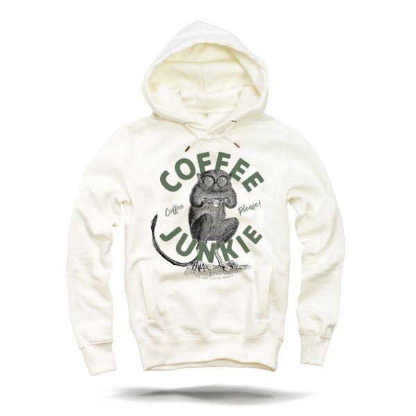 Coffee Junkie Hoodie 331 creme