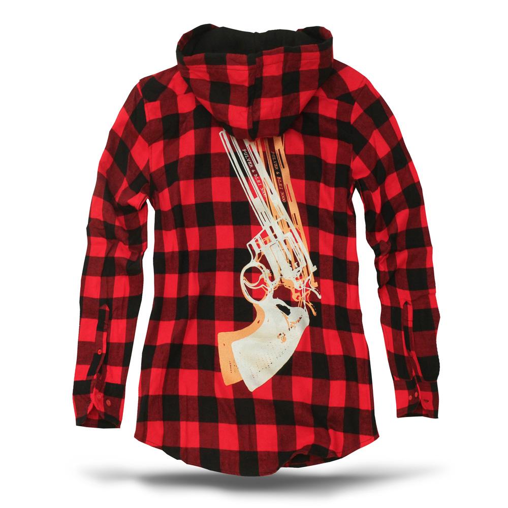 kariertes revolver hemd pulver blei der shop f r handgedruckte t shirts hoddies co. Black Bedroom Furniture Sets. Home Design Ideas