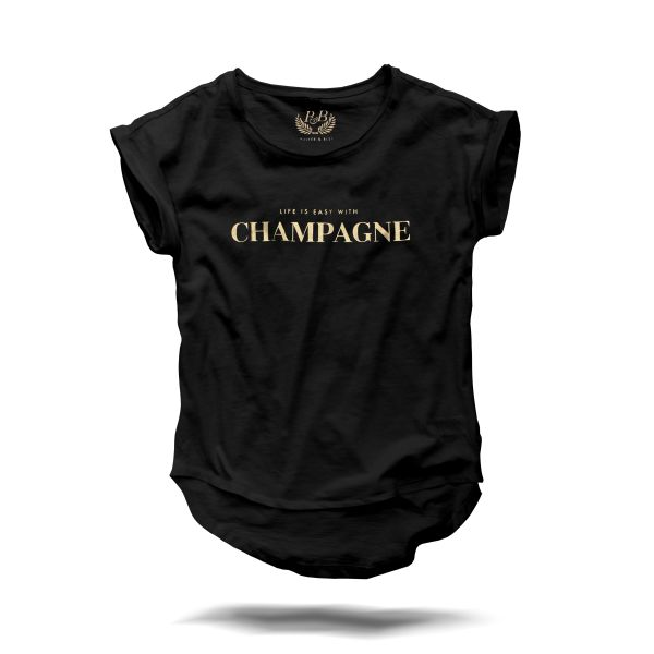 life is easy with champagne