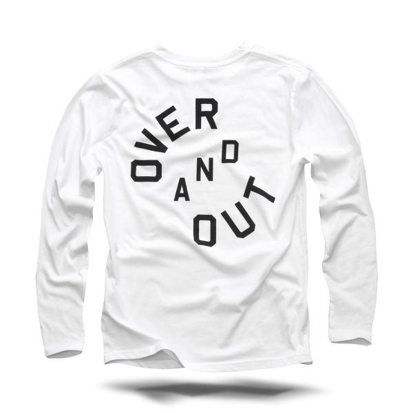 Over and Out Longsleeve weiss