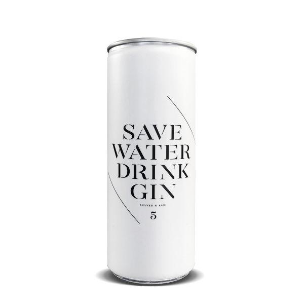 Save Water Drink Gin Single