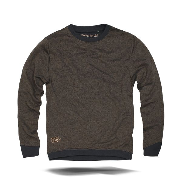 Burnt Pine Sweatshirt navy gold
