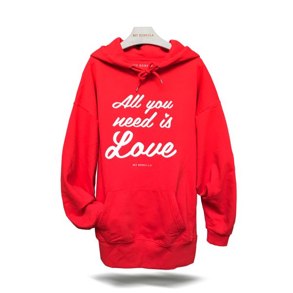 All you need is Love Hoodie rot